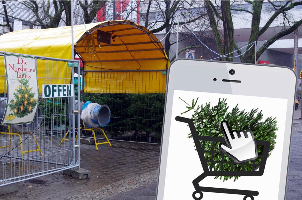 Liefern lassen statt schleppen: Per Mausklick können Sie Ihren Weihnachtsbaum bestellen (Foto: Meine Tanne)