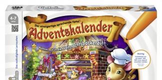 Der Tiptoi Adventskalender 2015 von Ravensburger erzählt eine Geschichte aus der Weihnachtsbäckerei.