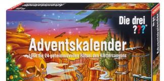 Der Kosmos Adventskalender 2015 erzählt einen kniffligen Fall rund um das Detektivtrio Die drei ???