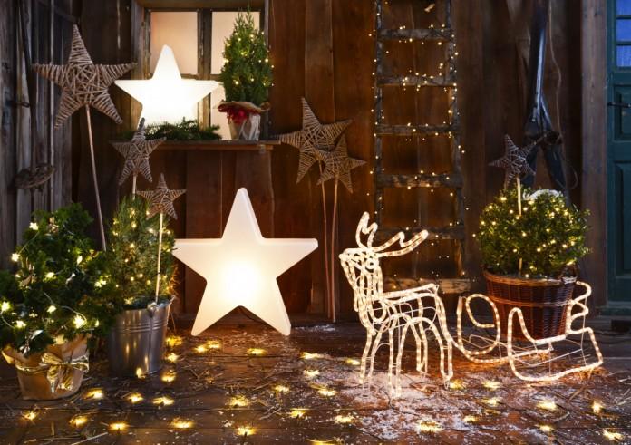weihnachtsbeleuchtung led lichterkette f r drau en. Black Bedroom Furniture Sets. Home Design Ideas