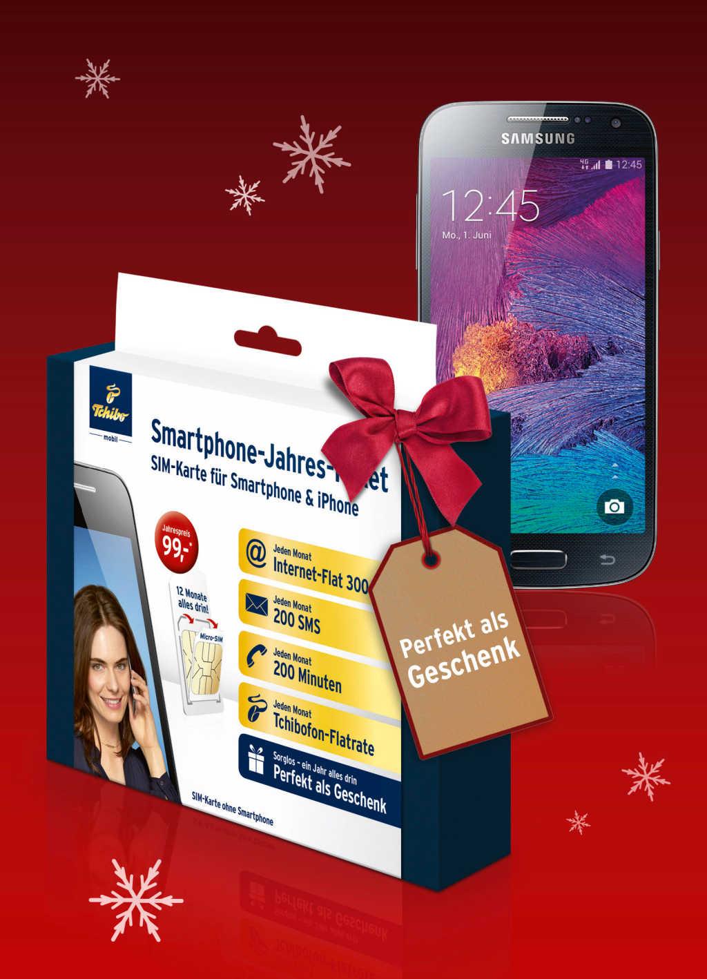 Tchibo Mobil: Smartphone Jahrespaket für einmalig 99 Euro