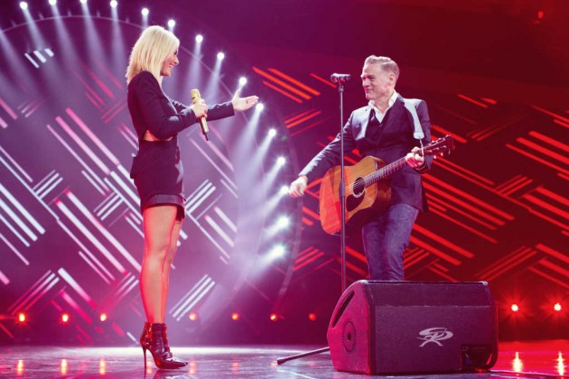 Zu Gast in der Helene-Fischer-Show 2015: Bryan Adams (Foto: ZDF / Sandra Ludewig)