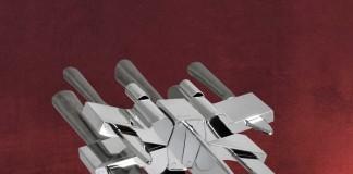Ja, dieser X-Wing ist tatsächlich ein Messerblock - eine tolle Geschenkidee für Fans von Star Wars Episode 7 (Foto: Elbenwald)