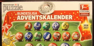 Der Bundesliga Adventskalender 2016 von Ravensburger enthält 18 3D-Puzzle-Bälle.