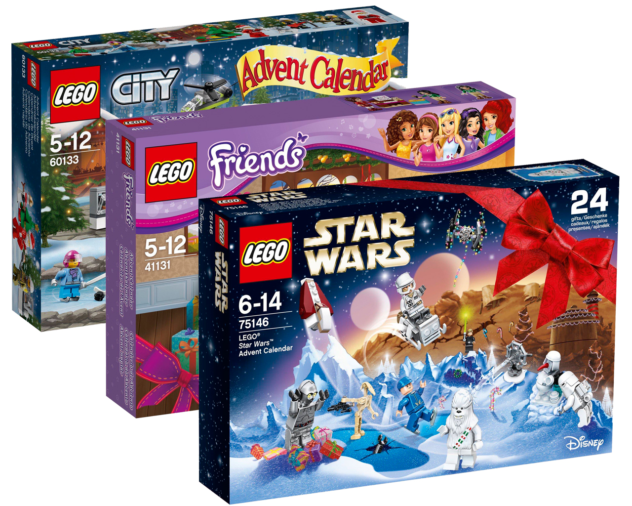 lego adventskalender 2016 lego star wars city friends. Black Bedroom Furniture Sets. Home Design Ideas