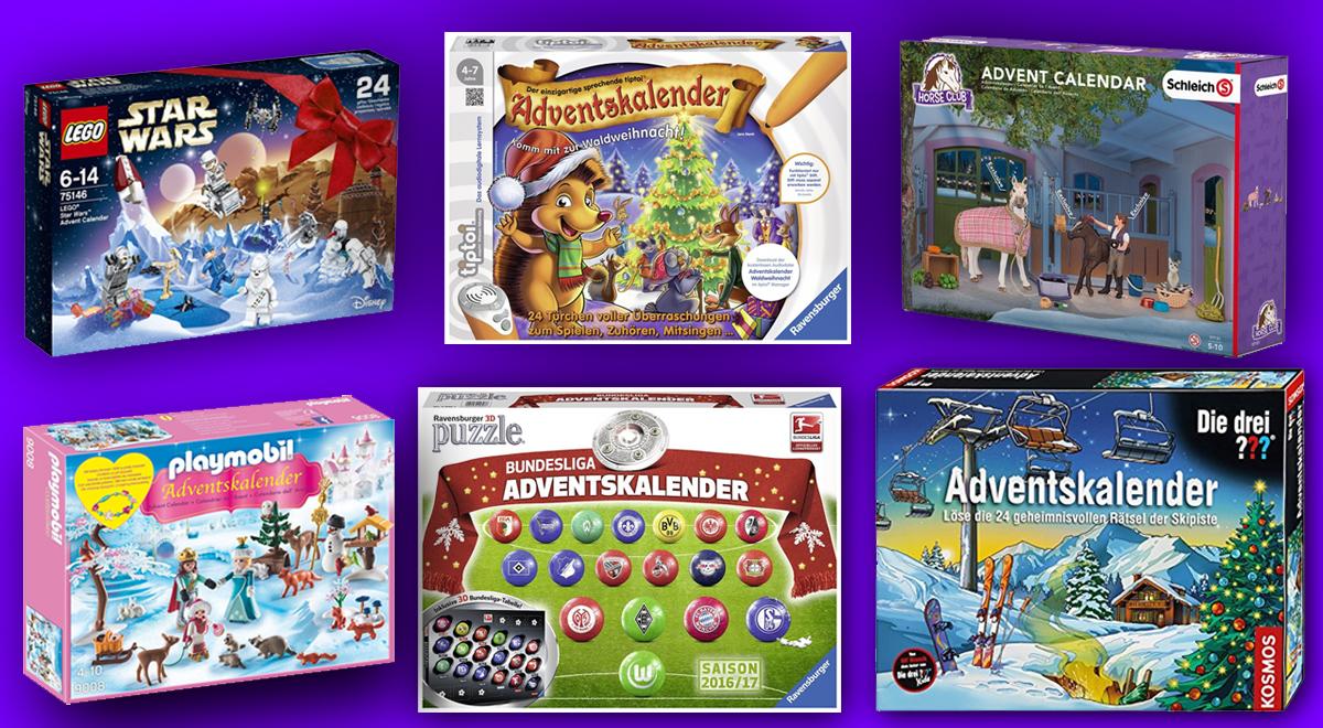 Riesige Auswahl: Lego, Playmobil, Ravensburger, Schleich und Kosmos präsentieren die neuen Adventskalender 2016.