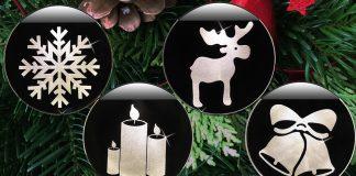 Eiskristall, Kerzen, Elch oder Glocken? Vier Krinner Deco Lights stehen zur Wahl (Fotos: Krinner, Grafik: Odufroehliche.de)
