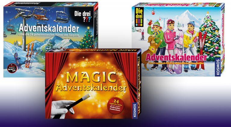 Kosmos Adventskalender 2016: Die drei ???, Zauberkasten & Co.