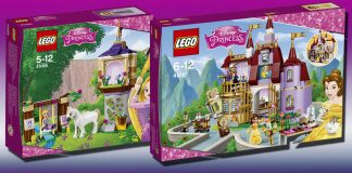 Die zwei Neuheiten aus der Reihe LEGO Disney Princess: Rapunzel und Belle.