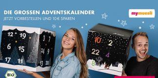 40 Zentimeter Kantenlänge: Der riesige MyMuesli Adventskalender 2016 ist da!