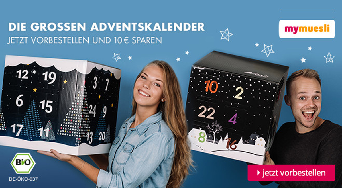 mymuesli adventskalender 2016 jetzt vorbestellen o du fr hliche. Black Bedroom Furniture Sets. Home Design Ideas