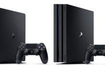 Die beiden PlayStation 4 Konsolen im Vergleich: PlayStation 4 Slim (links) und PlayStation 4 Pro (rechts).