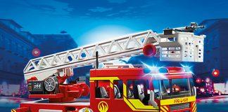 Das Playmobil Leiterfahrzeug ist die perfekte Ergänzung jeder Playmobil Feuerwehr.