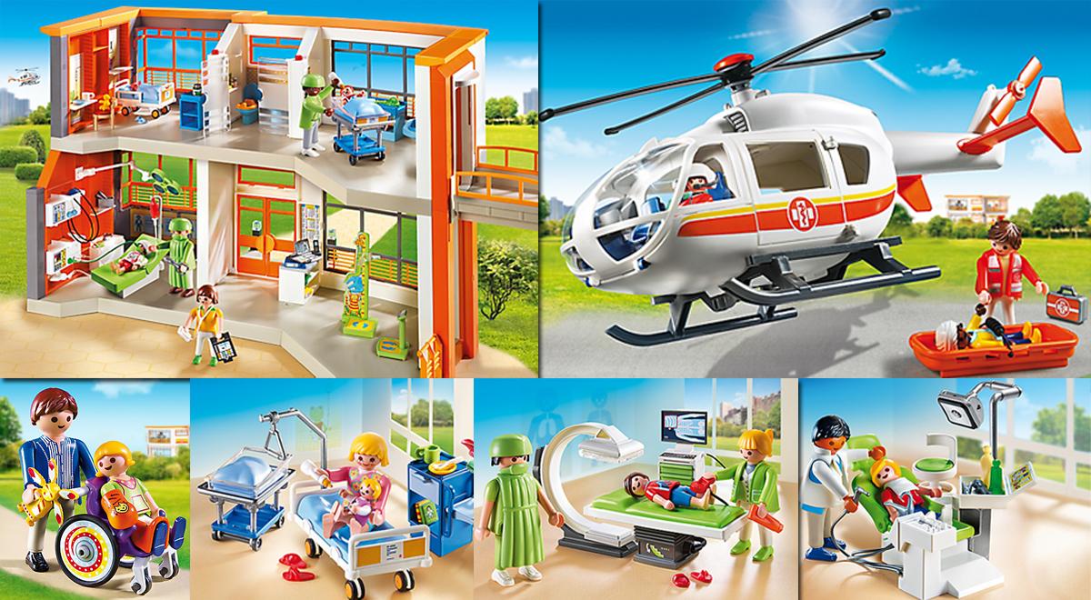Im Playmobil Krankenhaus werden kleine und große Patienten schnell gesund (Abbildungen: Playmobil).