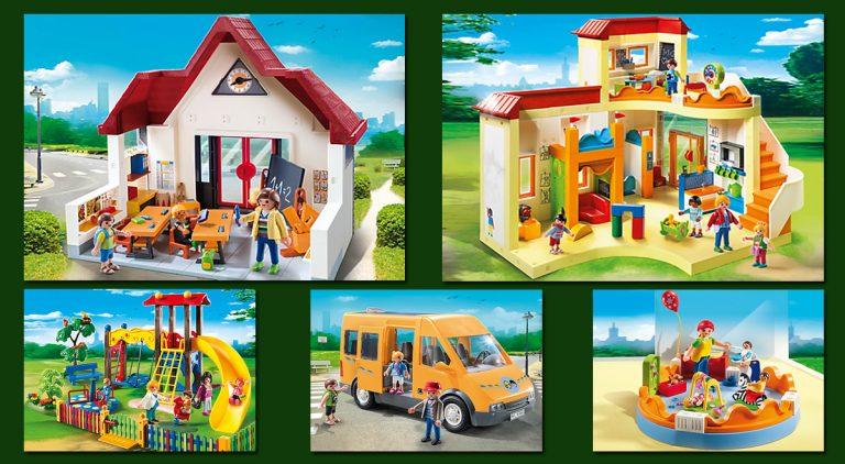 Playmobil Schule, Schulbus und Kindergarten