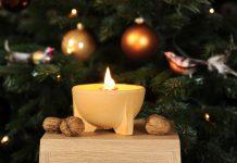 Das Denk Schmelzfeuer zaubert nicht nur an Weihnachten eine wunderbare Atmosphäre (Foto: Denk Keramik).