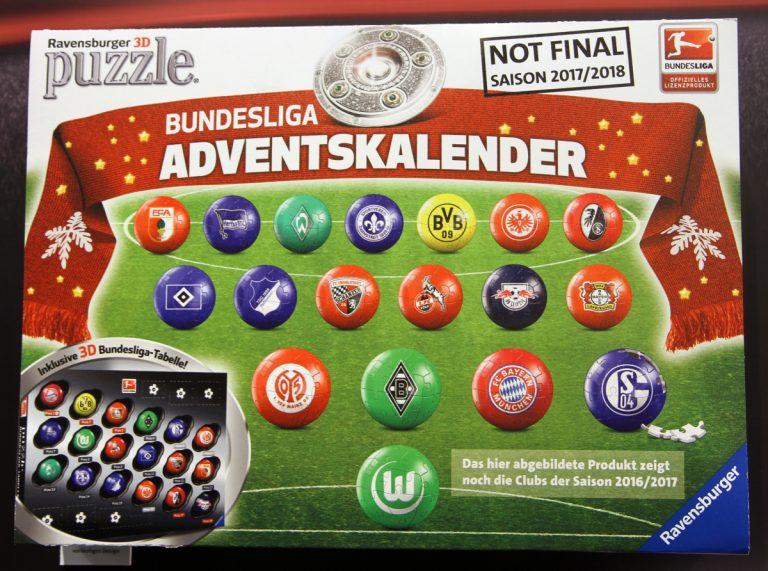 Bundesliga Adventskalender 2017 mit Ravensburger 3D Puzzle
