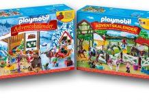 Zwei der drei neuen Playmobil Adventskalender 2017: Wichtelwerkstatt und Reiterhof
