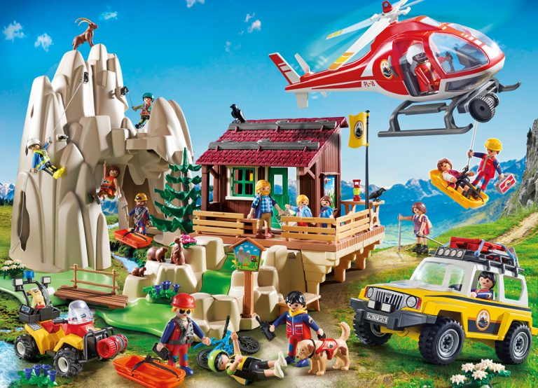 Playmobil Bergrettung mit Kletterfels