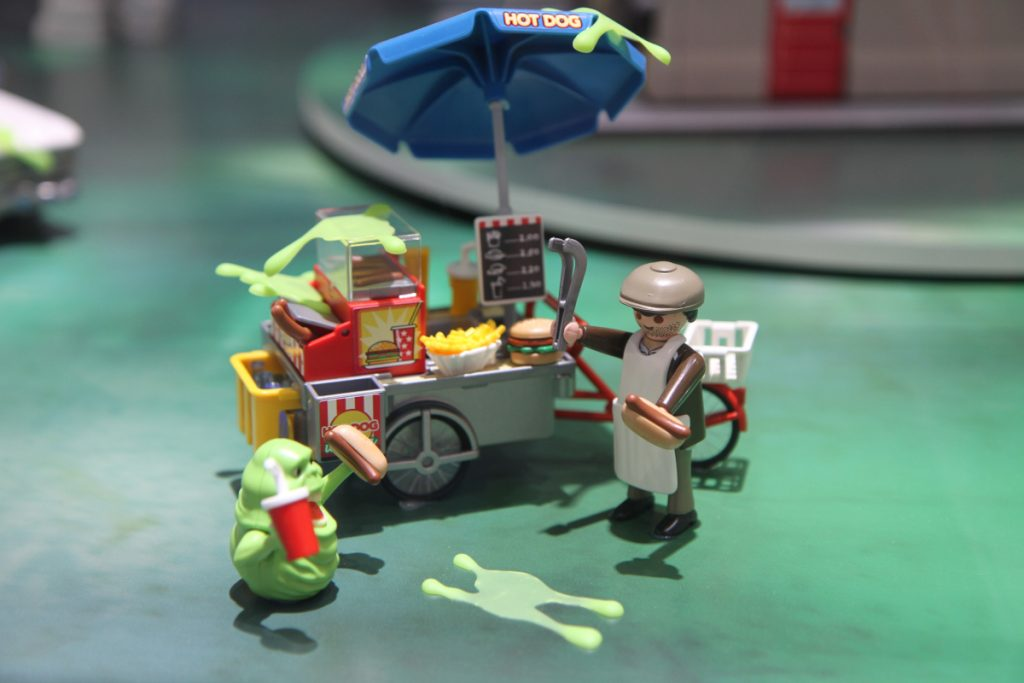 Playmobil Ghostbusters Hot-Dog-Stand mit Slimer (Foto: Odufroehliche.de)