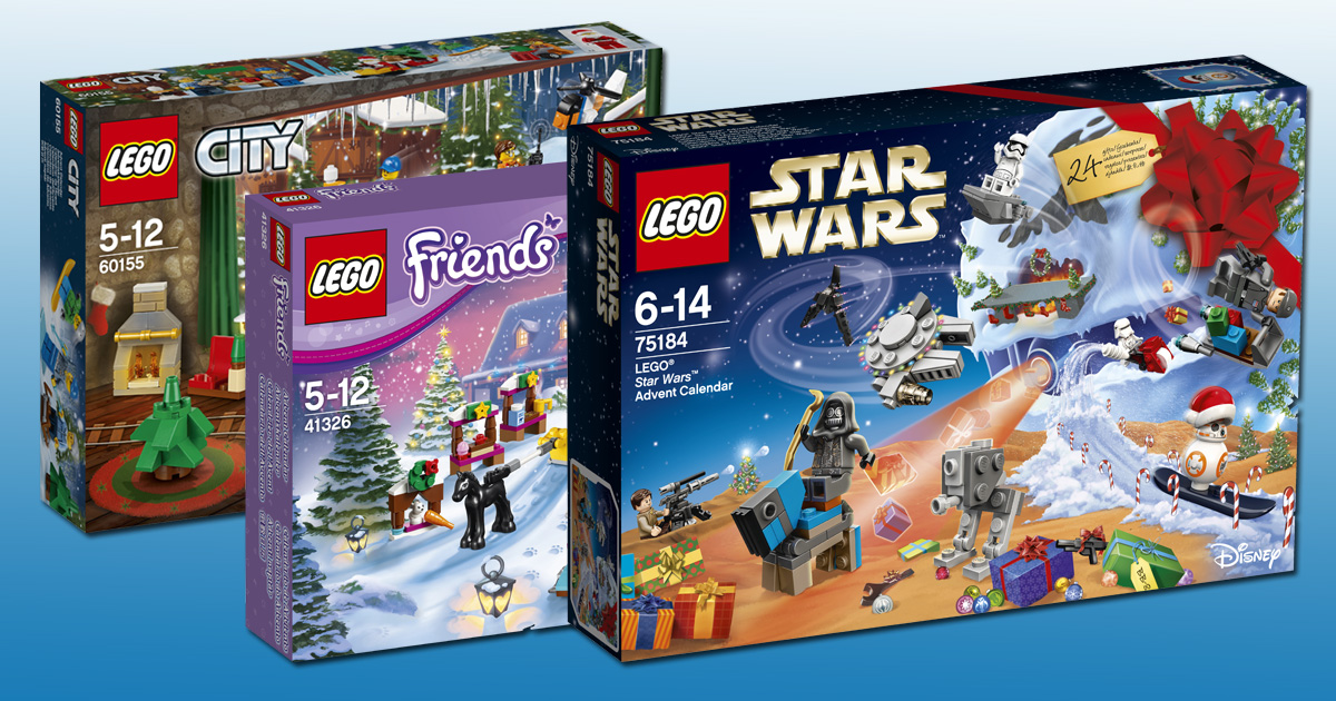 Weihnachtskalender Lego Friends.Lego Adventskalender 2017 Lego Star Wars Lego City Lego Friends