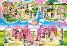 """Limousine, Brautmodengeschäft, Pavillon: Alle fünf Sets der neuen """"Playmobil Hochzeit""""-Spielwelt."""