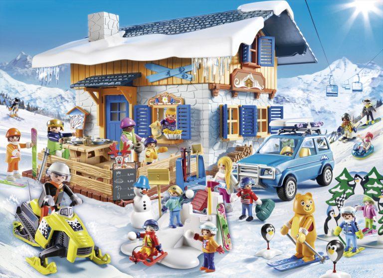 Playmobil Wintersport: Skihütte, Schneeballschlacht, Skischule