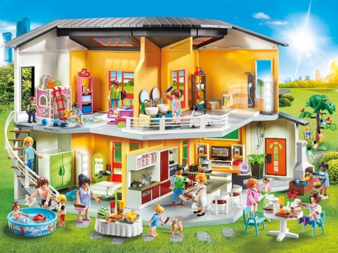 So sieht das neue Playmobil Wohnhaus mit sämtlichen Erweiterungs-Sets aus (Foto: PLAYMOBIL)