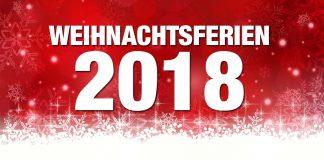 Weihnachtsferien 2018/19 im Überblick (Grafik: Fotolia)