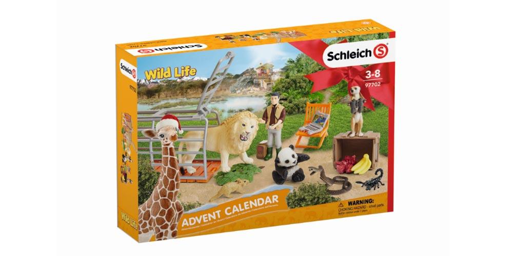 Der Schleich Adventskalender 2018 WildLife ist ab September 2018 lieferbar (Abbildung: Schleich)