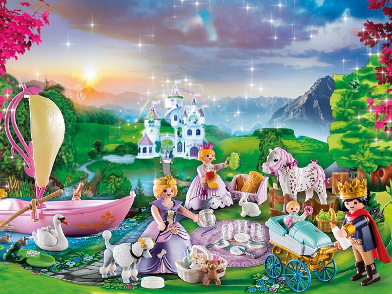 """Ein """"königliches Picknick"""" entsteht mit diesem neuen Playmobil Adventskalender 2020 (Abbildung: Playmobil)"""