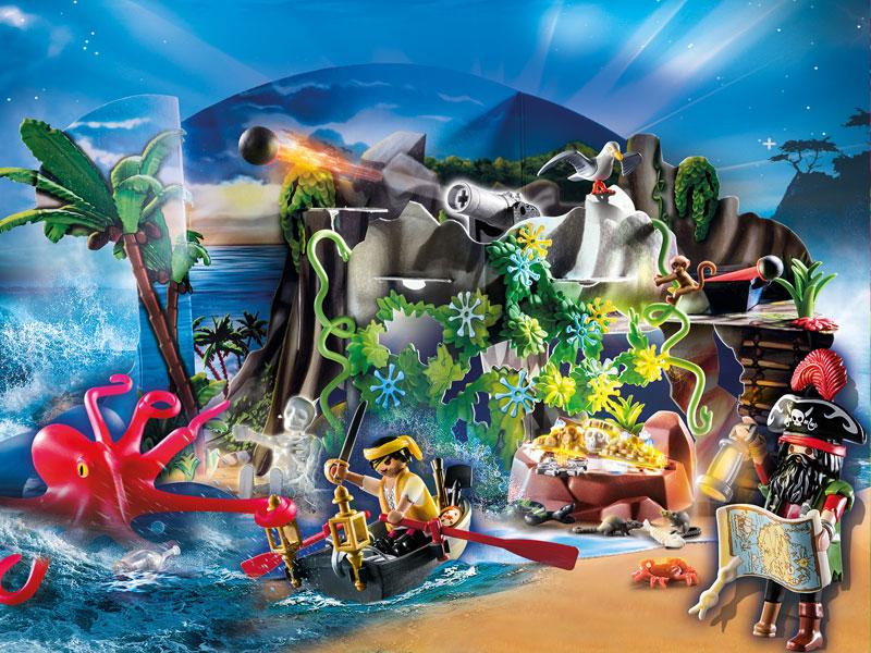 """Playmobil Adventskalender 2020: Auf geht's zur """"Schatzsuche in der Piratenbucht"""" (Abbildung: Playmobil)"""